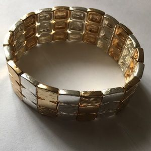 Barely worn !! Silver and Gold Bracelet !!